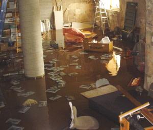 basement flooding sump pump fail
