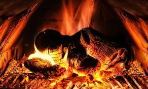 logs on a fire