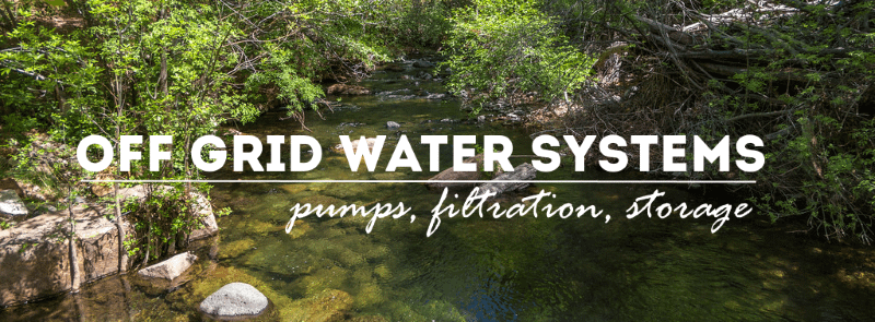 off grid water systems graphic