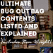 ultimate bug out bag contents listed and explained graphic