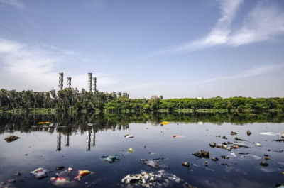 pollution in lake