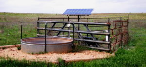 solar powered water pump drinking trough