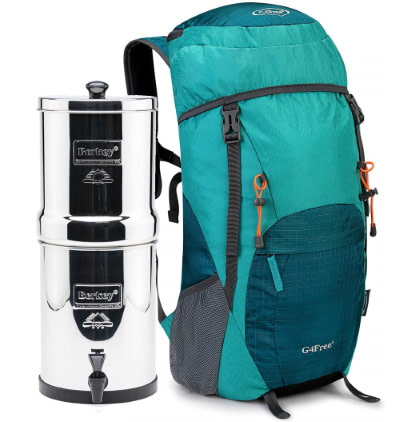 Comparing a Travel Berkey to a 40L backpack