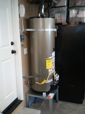 Traditional hot water heater