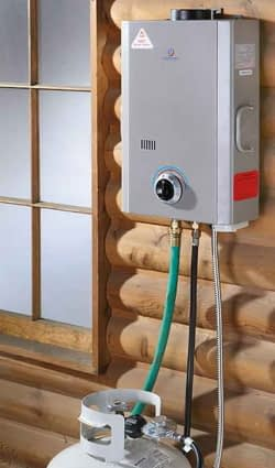 outdoor propane tankless water heater