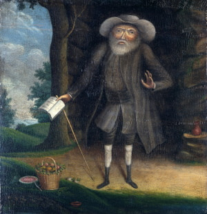 painting of a man on a long journey