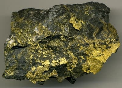 stockwork vein specimen loaded with gold ore