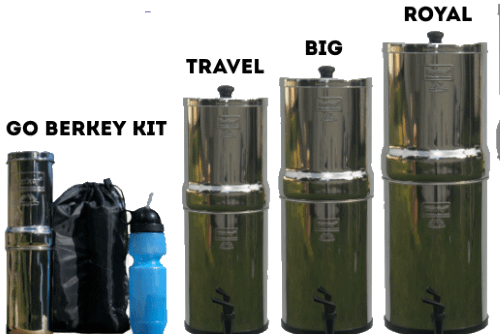 Comparing the different sizes of Berkey water filters