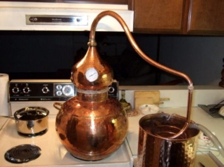 copper stovetop still