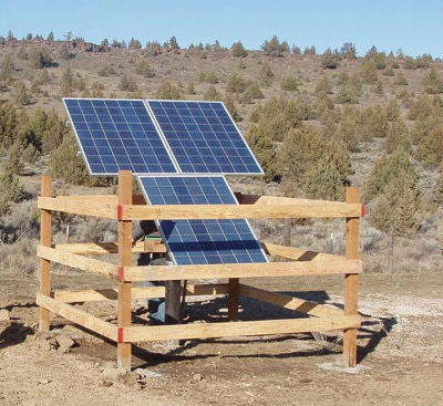 rural solar power water pump