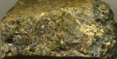 Skarn rock with gold ore