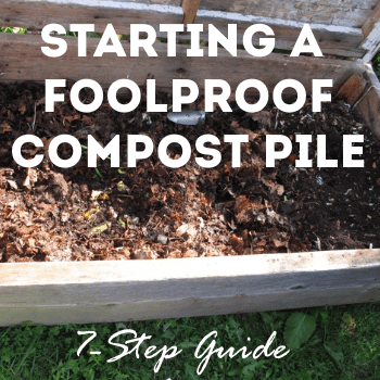 start a foolproof compost pile 7 step guide