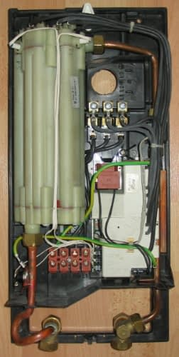 electric tankless water heater insides