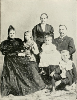 old vintage photo of family