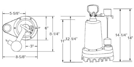 diagram of submersible sump pump