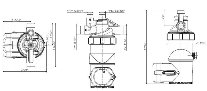 Laing ACT E1 Pump Dimensions