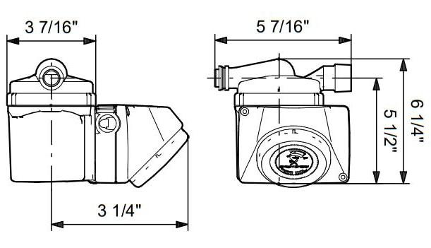 Grundfos GRU-595916 dimensions