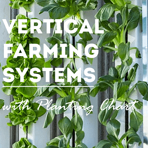 vertical farming systems with planting chart