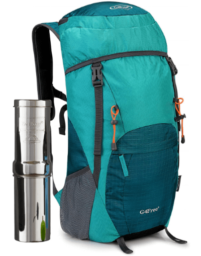 Comparing a Go Berkey to a 40L backpack