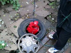a crude homemade shallow well